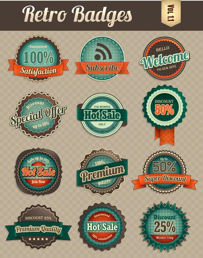 Retro badges vol 1-1 royalty free illustration