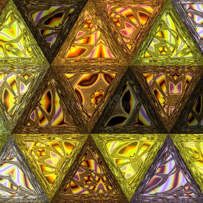 Retro bakgrund för abstrakt geometrisk modell Beståndsdel pastell royaltyfri illustrationer