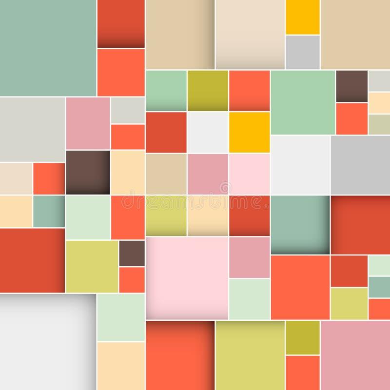 Retro bakgrund för fyrkanter royaltyfri illustrationer