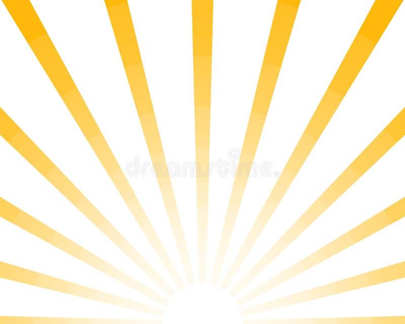 Retro bakgrund för halva solstrålar, stilfull gul kulör sunburst Skin sommarmodellen Eps10 Vektorstarburstillustration vektor illustrationer