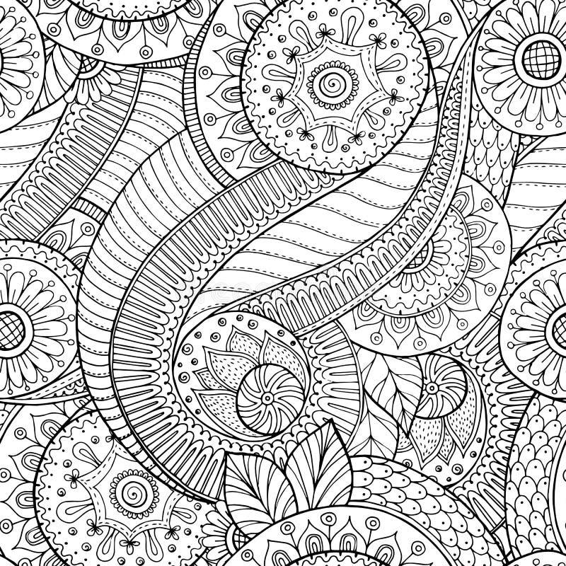 Retro bakgrund för sömlös blomma i vektor royaltyfri illustrationer