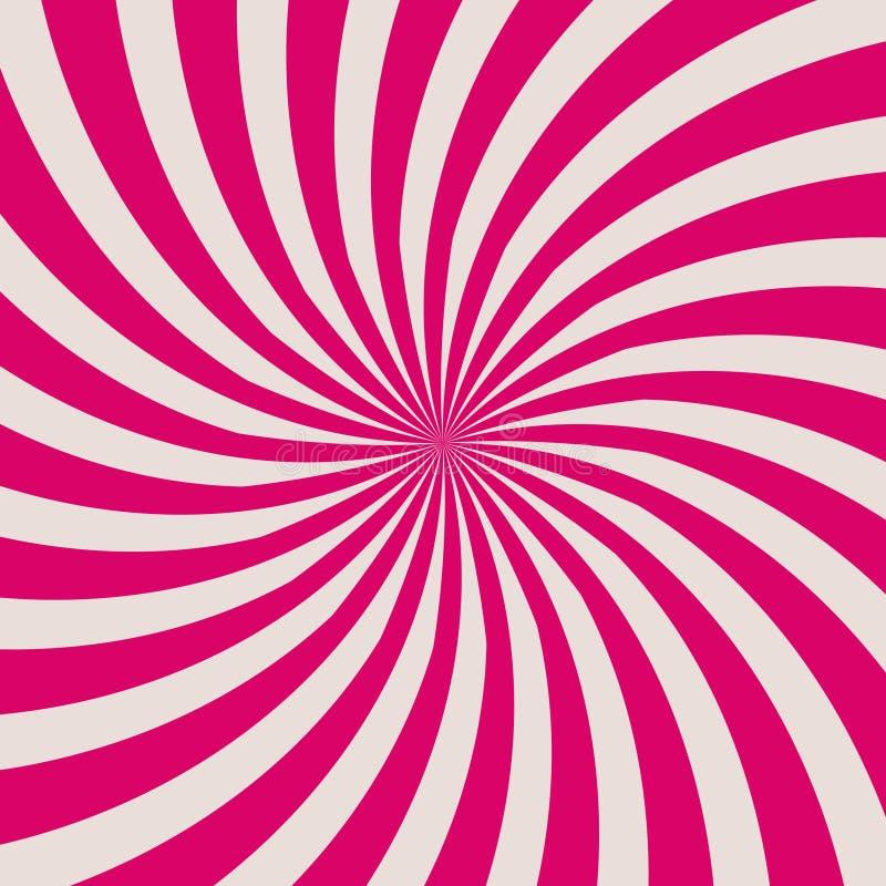 Retro bakgrund med röda solstrålar vektor vektor illustrationer