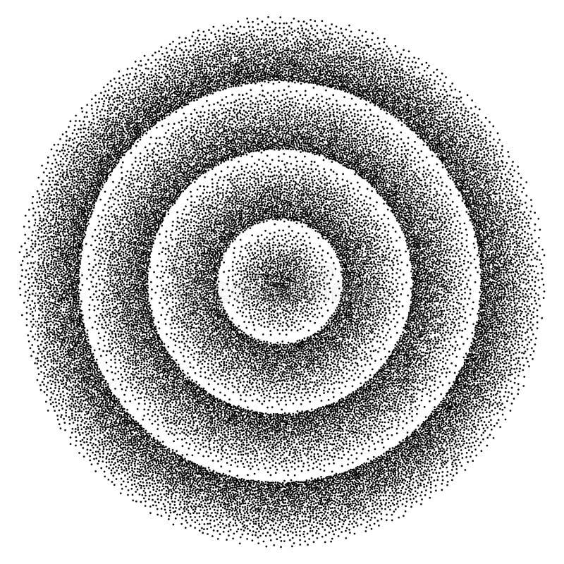 Retro bakgrunds80-talstil Bakgrund för parti för Dotwork stipplism80-tal för illustrationsköld för 10 eps vektor vektor illustrationer