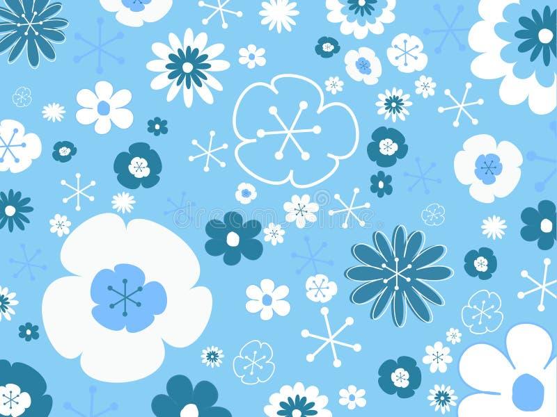 Download Retro bakgrundsblomma vektor illustrationer. Illustration av digitalt - 514745