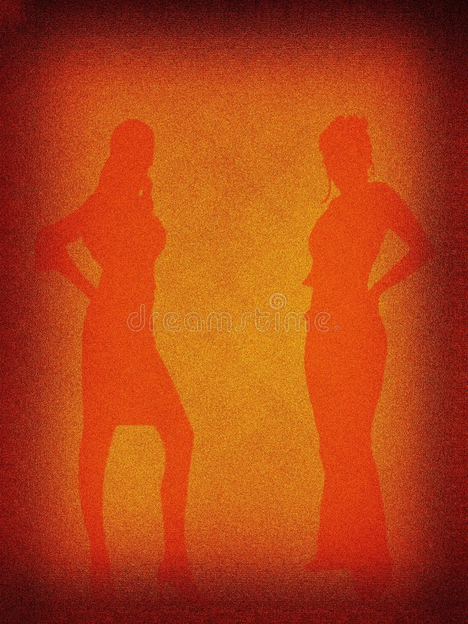 Download Retro Bakgrundsfunktionsläge Stock Illustrationer - Illustration av silhouette, antikviteten: 518327