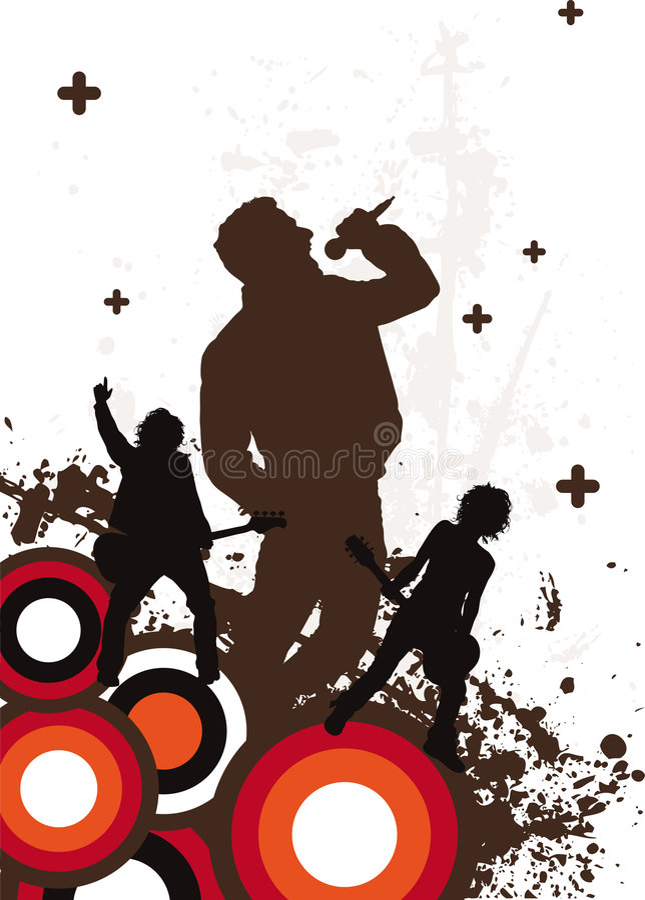 Retro Band stock illustration