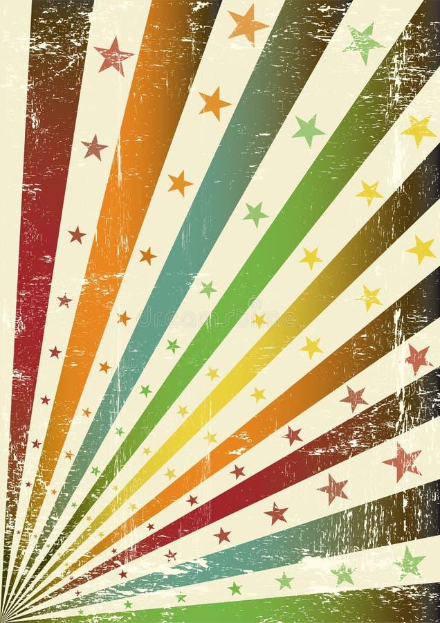 Retro bandierina multicolore del grunge royalty illustrazione gratis