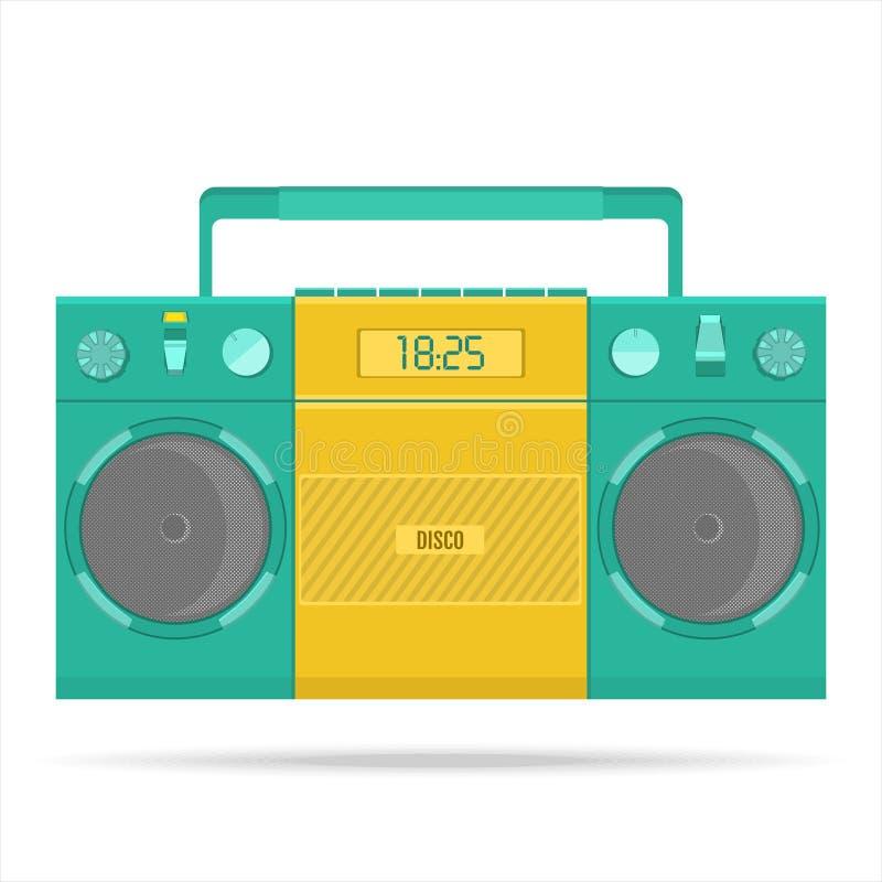 Retro bandspelare för ljudkassetter royaltyfri illustrationer