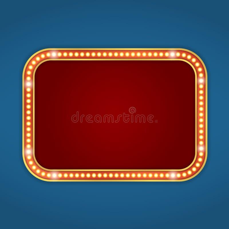Retro banner stock illustratie