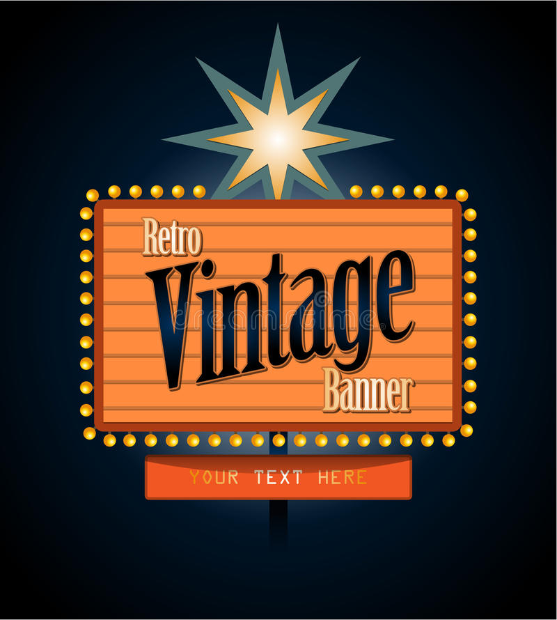 Free Retro Banner Motel Sign Stock Images - 41062924