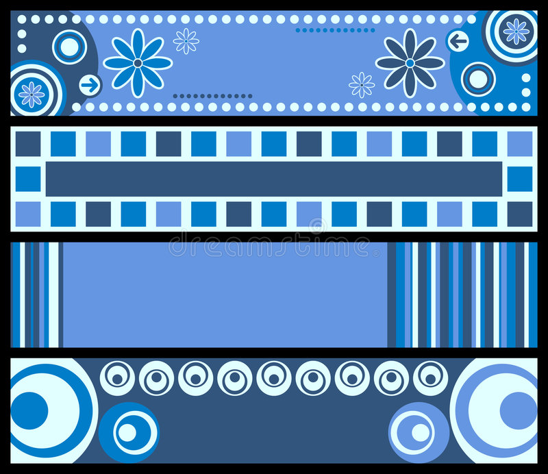 Download Retro Banners [Blue] stock vector. Illustration of design - 4661272