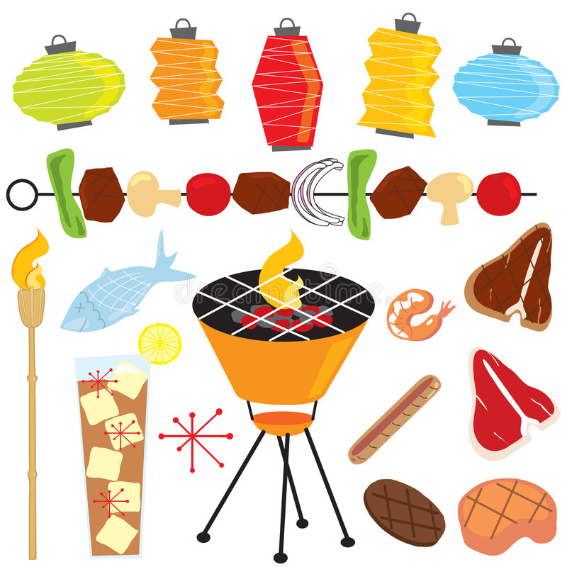 Download Retro Barbeque Party Royalty Free Stock Photo - Image: 8763885