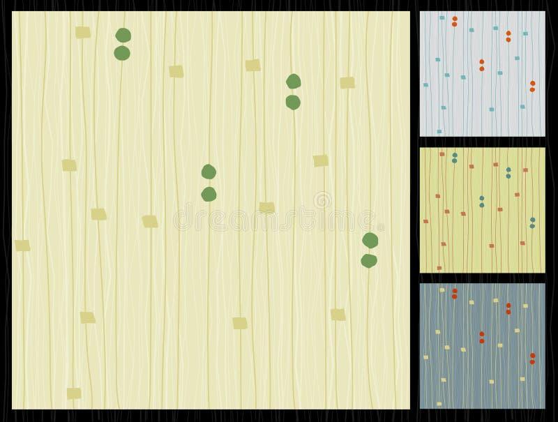 Retro Barkcloth Gevoerde Stof vector illustratie
