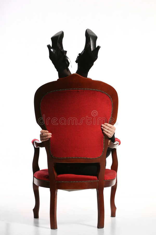 Retro Baroque Chairwith Woman Legs Royalty Free Stock Photos