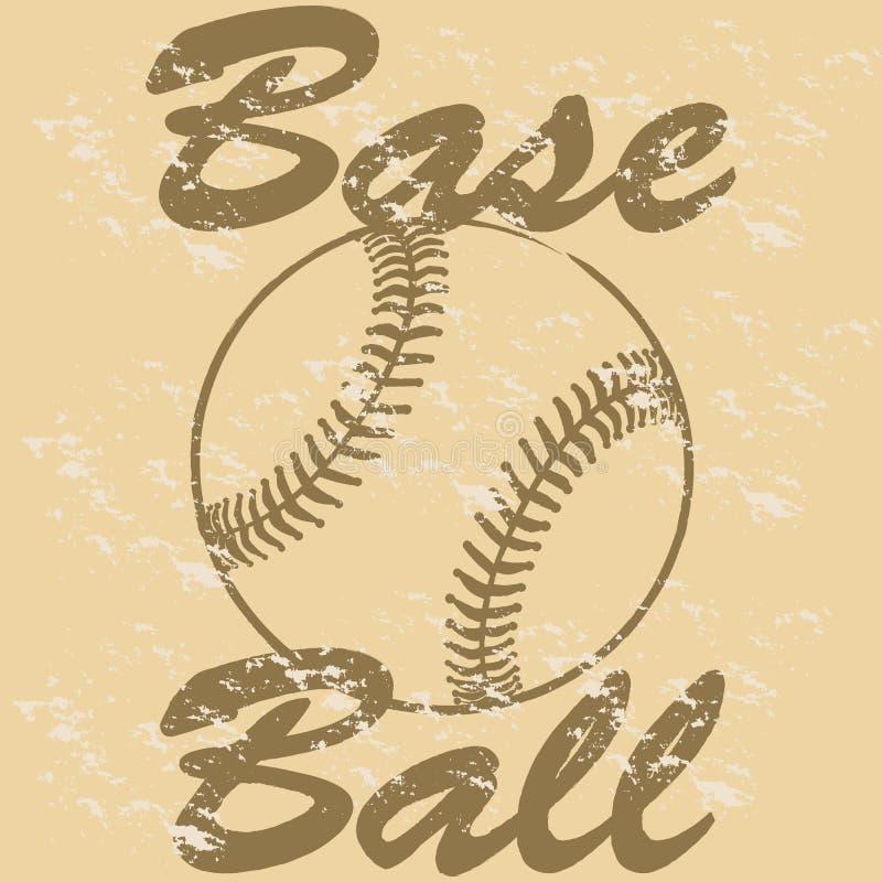 Retro baseball royalty free illustration