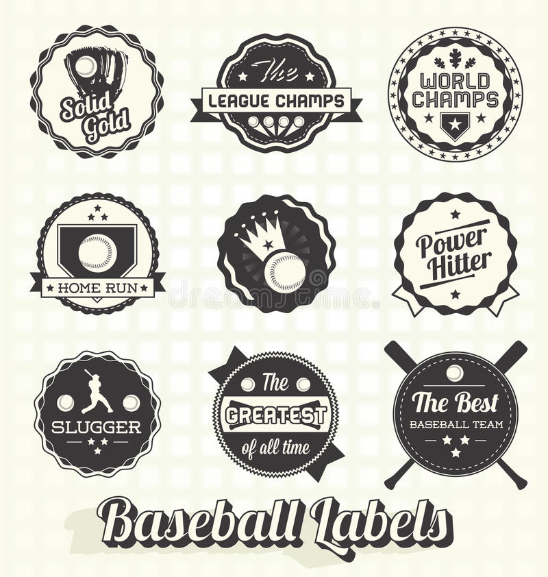 Download Retro Baseball Labels And Icons Stock Vector - Image: 30513375