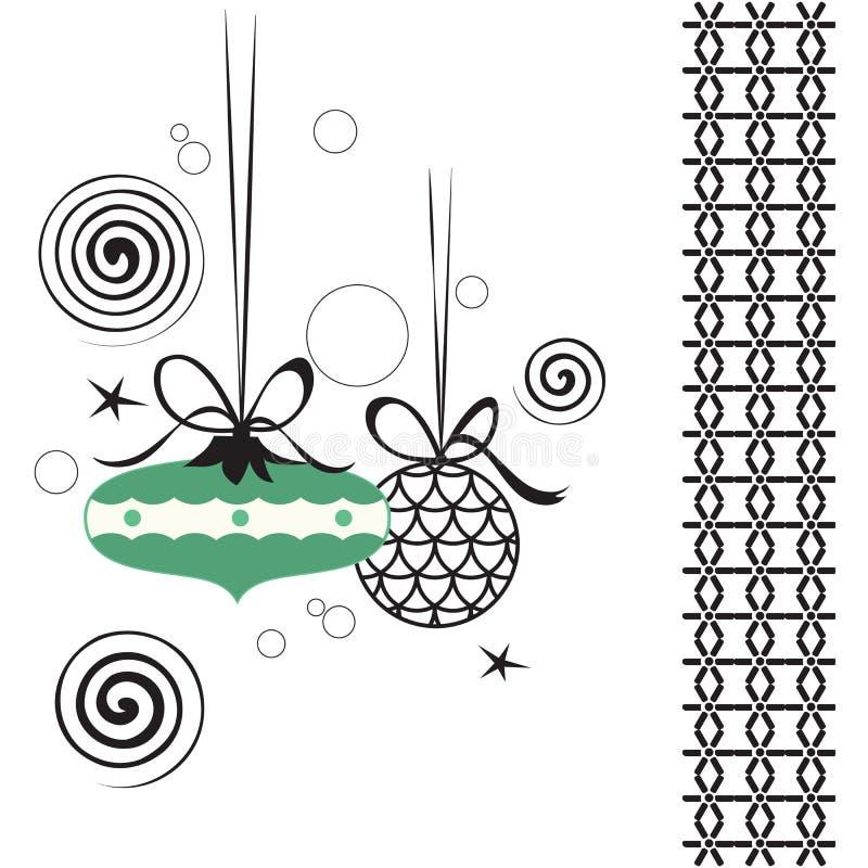 retro baubles vektor illustrationer