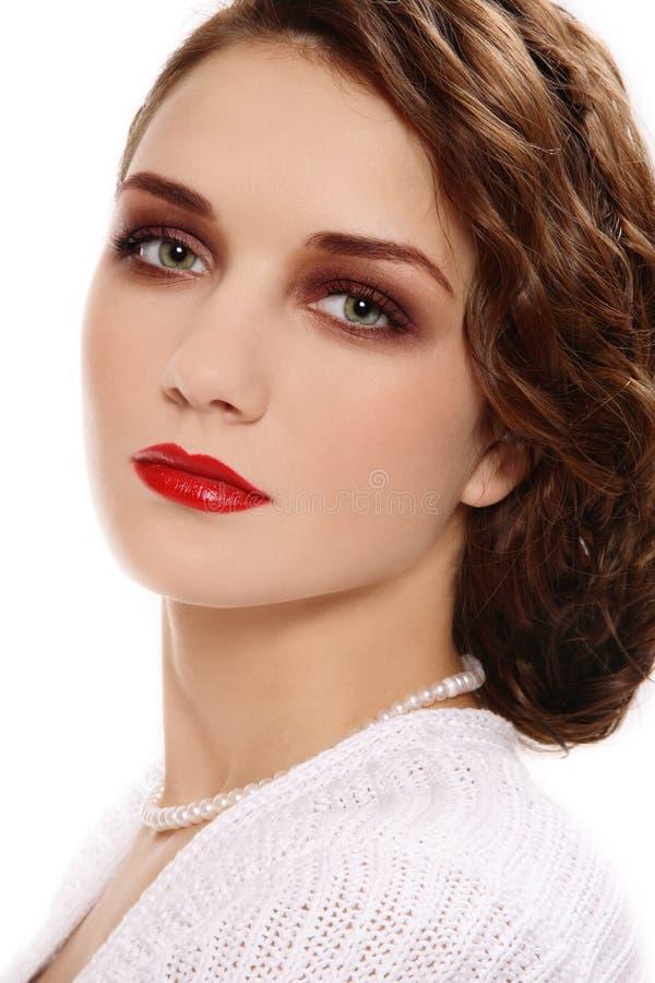 Retro beauty royalty free stock photography