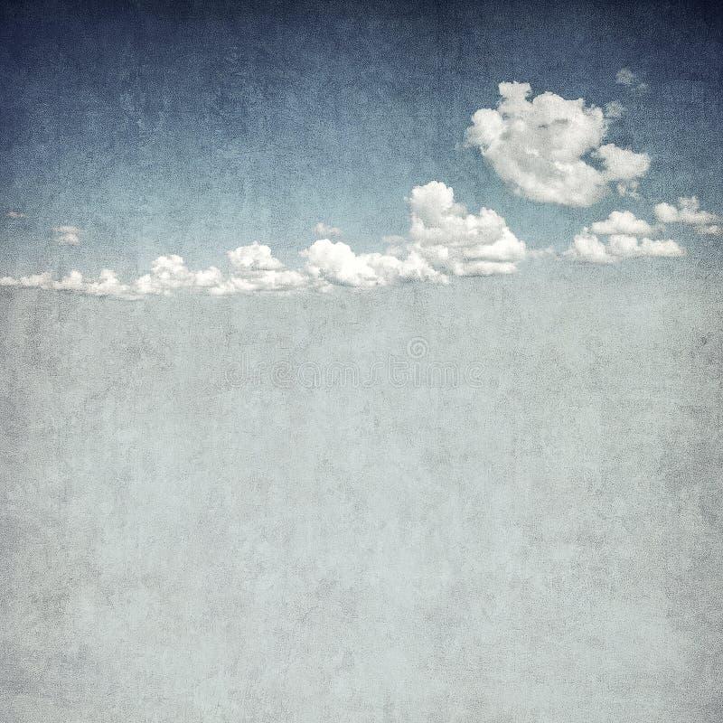 Retro beeld van bewolkte hemel royalty-vrije illustratie