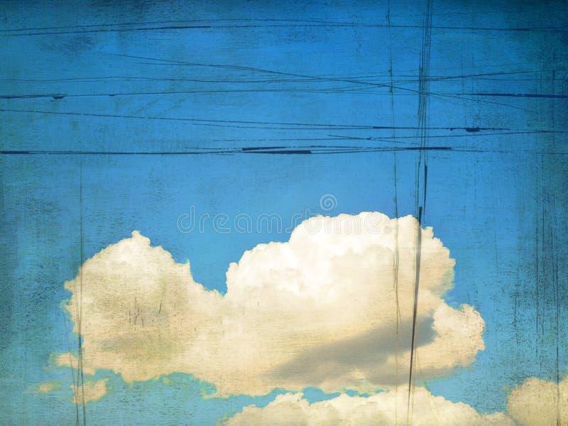 Retro beeld van bewolkte hemel. Achtergrond royalty-vrije illustratie