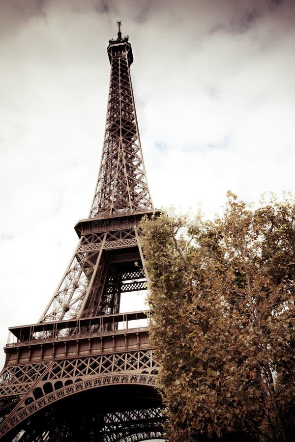 Retro beeld van de toren van Eiffel, Parijs royalty-vrije stock foto