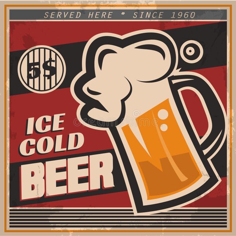 Download Retro Beer Poster Stock Illustration Of Vintage