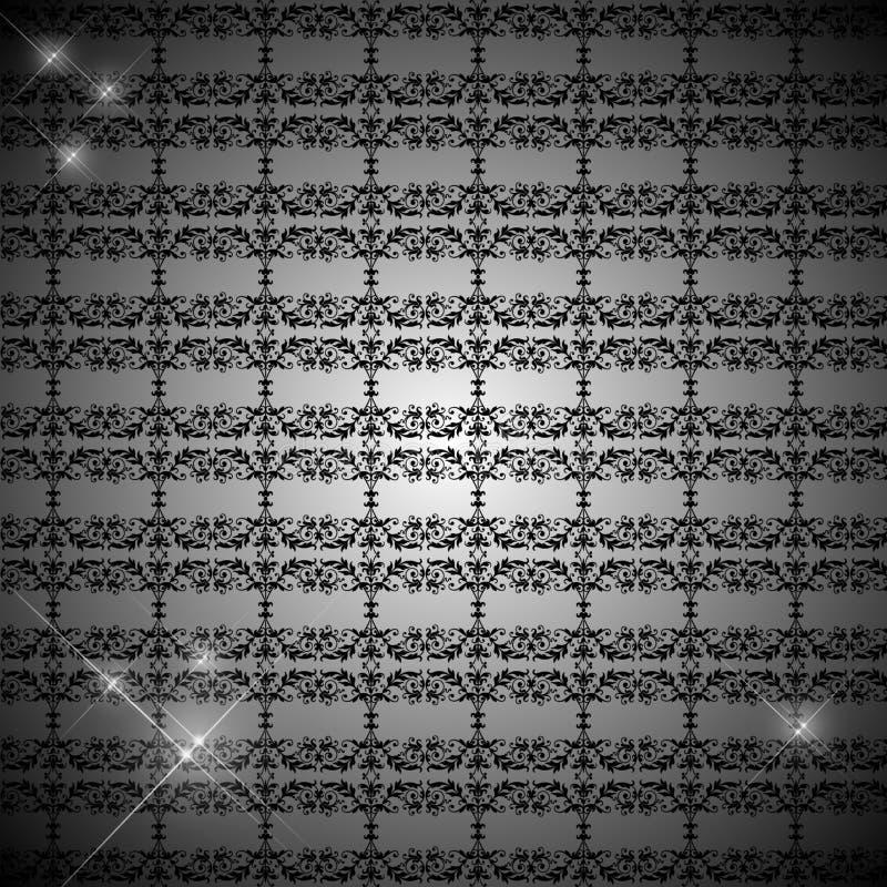 Retro Behang van de aantrekkingskracht vector illustratie