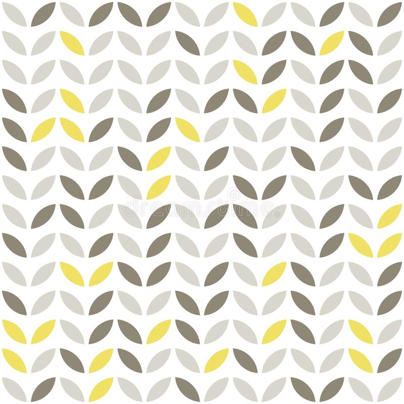 retro beige yellow brown leaves vector illustration