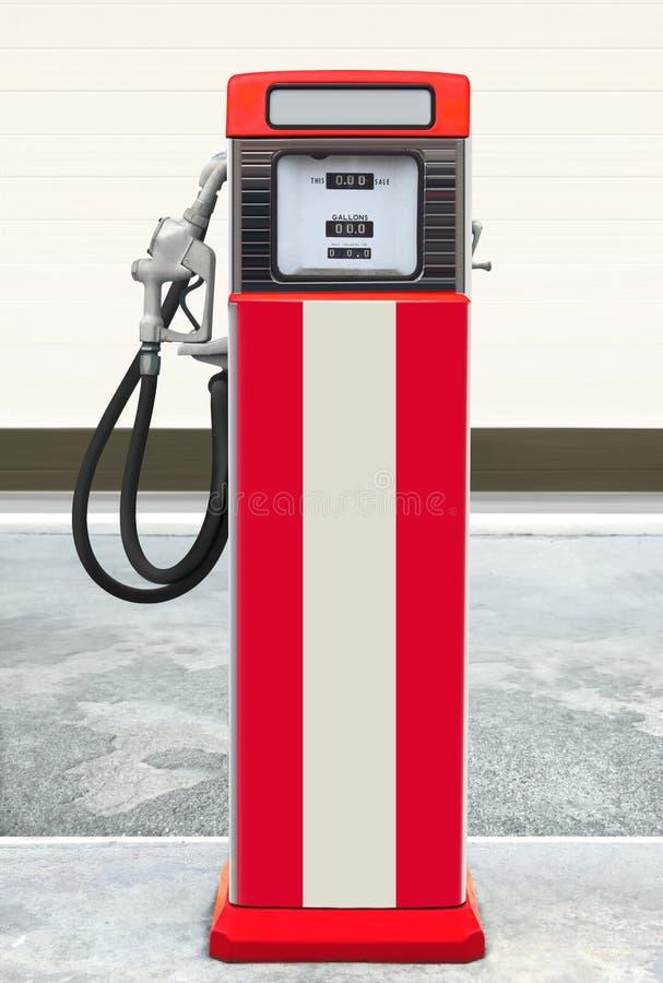 Retro benzinepomp stock afbeelding
