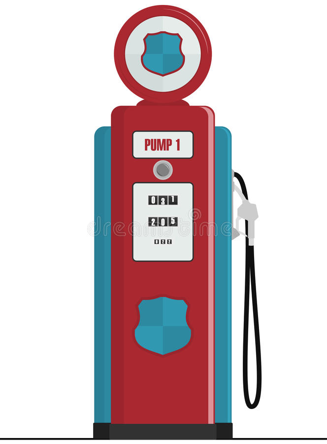 Retro Benzinepomp stock illustratie