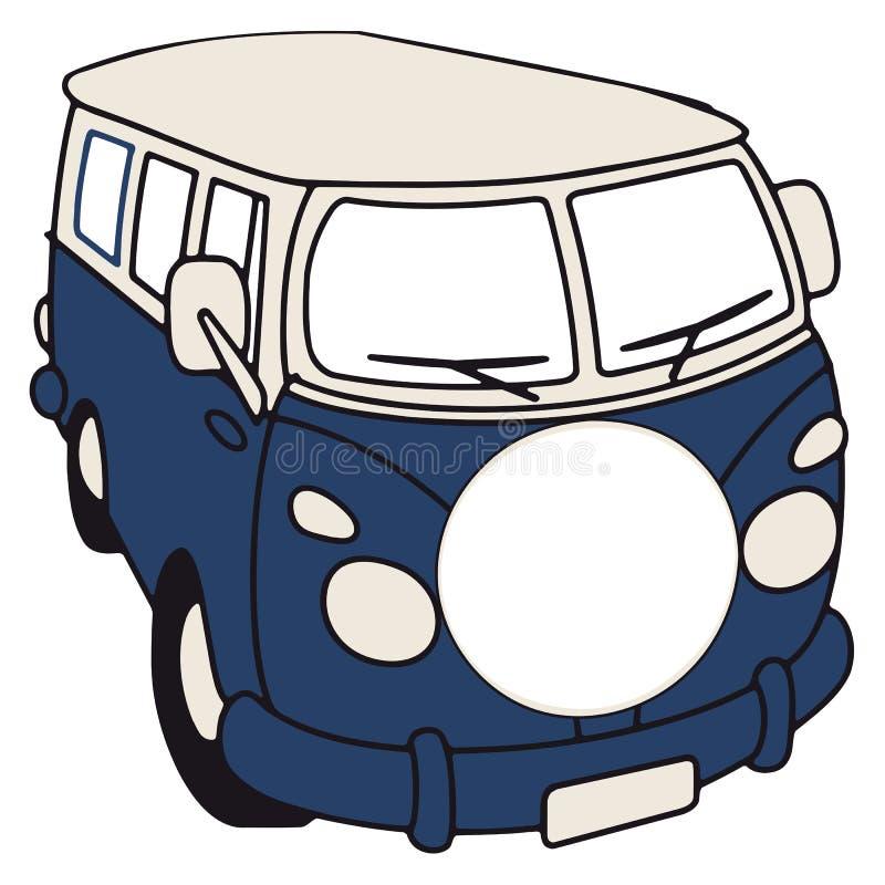 Retro bestelwagen vector illustratie