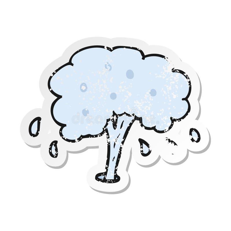 Retro- beunruhigter Aufkleber einer Karikaturwassert?lle vektor abbildung