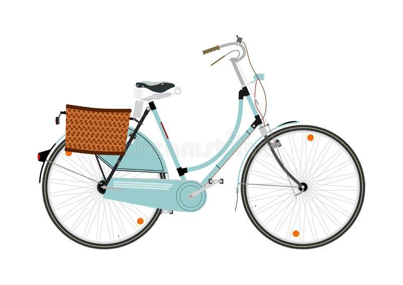 Retro bicicletta del fumetto illustrazione di stock