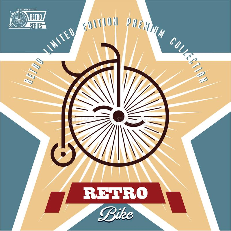 Retro Bicycle Label royalty free illustration
