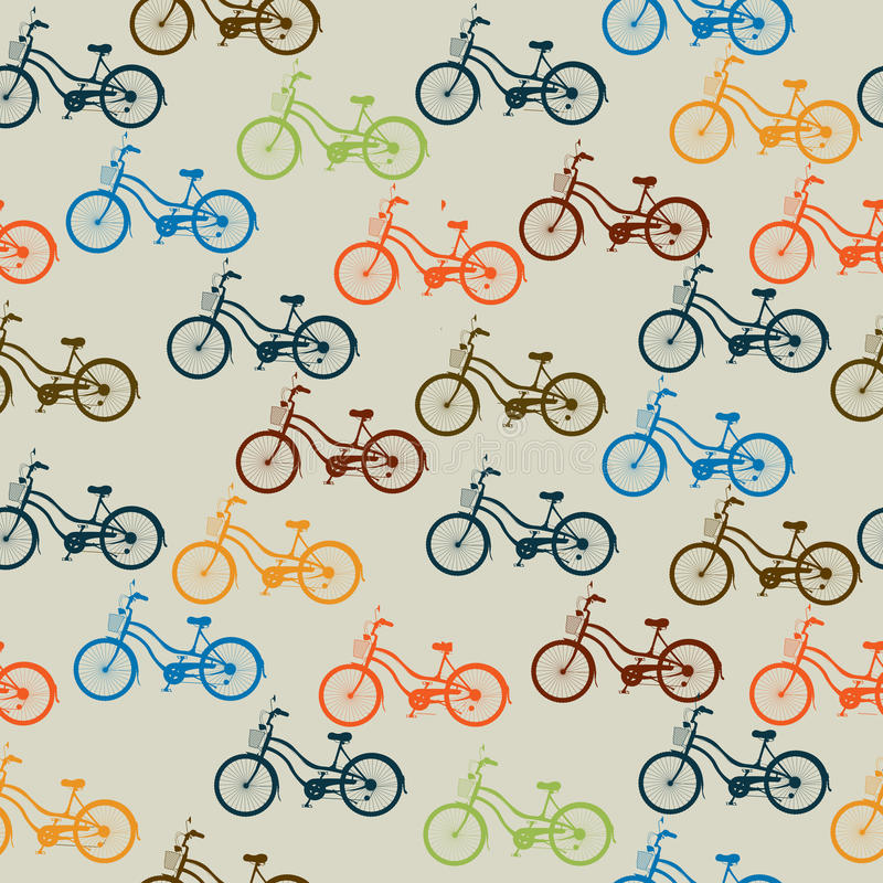 Download Retro bicycle pattern stock vector. Illustration of exhibition - 27125603