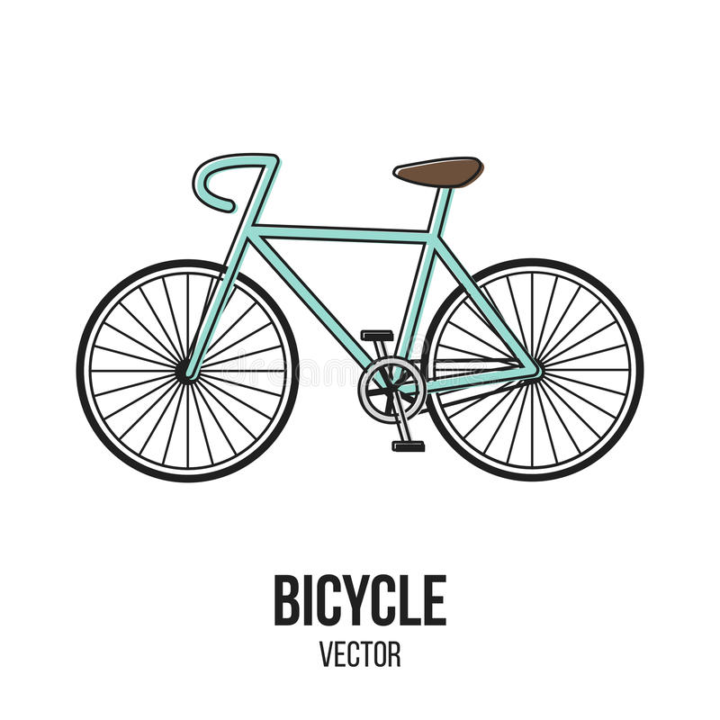 Retro Bicycle Sport Vector Isolate Element stock photos