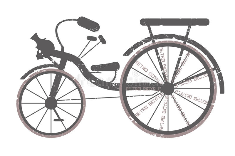 Retro bicycle for your creative designs. Stylish bicycle illustration. Retro illustration can be used for posters, graphics ,design fabric, textile and more vector illustration