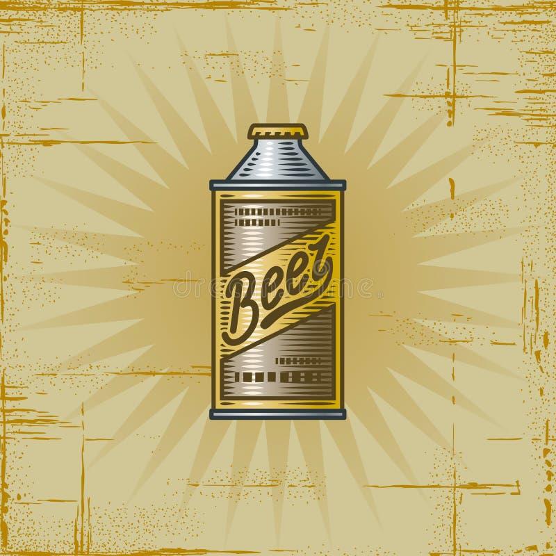Retro Bier kan royalty-vrije illustratie