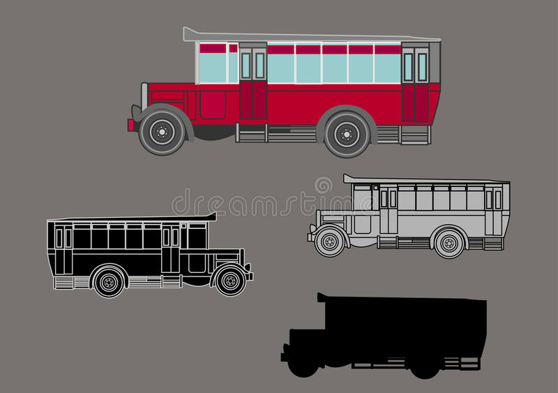 Retro bil stock illustrationer