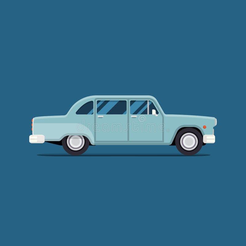 retro bil Isolerad illustration för vektor lägenhet Trevliga designbeståndsdelar för dina bäst idérika idéer royaltyfri illustrationer