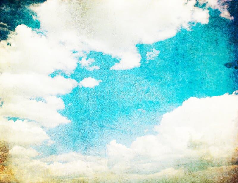 Retro- Bild des bewölkten Himmels lizenzfreies stockfoto