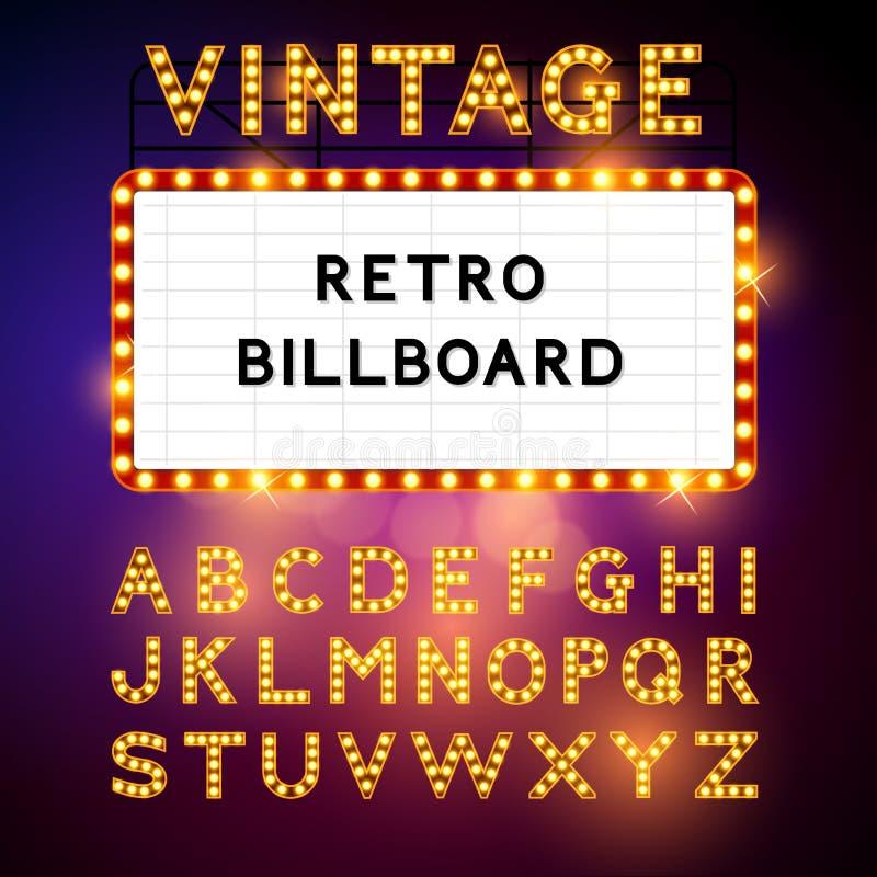 Retro Billboard Vector vector illustration