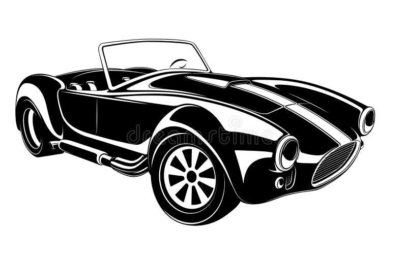 Retro bilvektor stock illustrationer