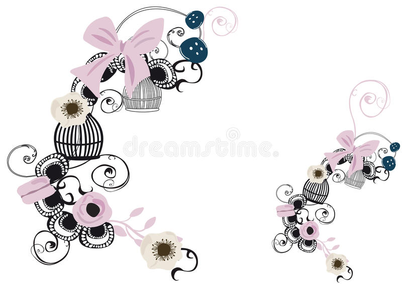 Download Retro birdcages stock illustration. Illustration of retro - 28806942