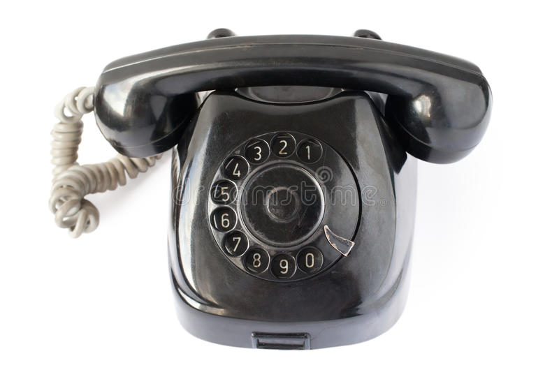 Download Retro black phone stock image. Image of plate, cord, communicate - 17518321