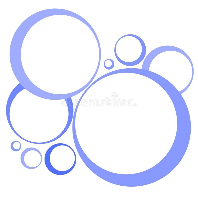 Retro Blauw van Hoepels en van Cirkels vector illustratie