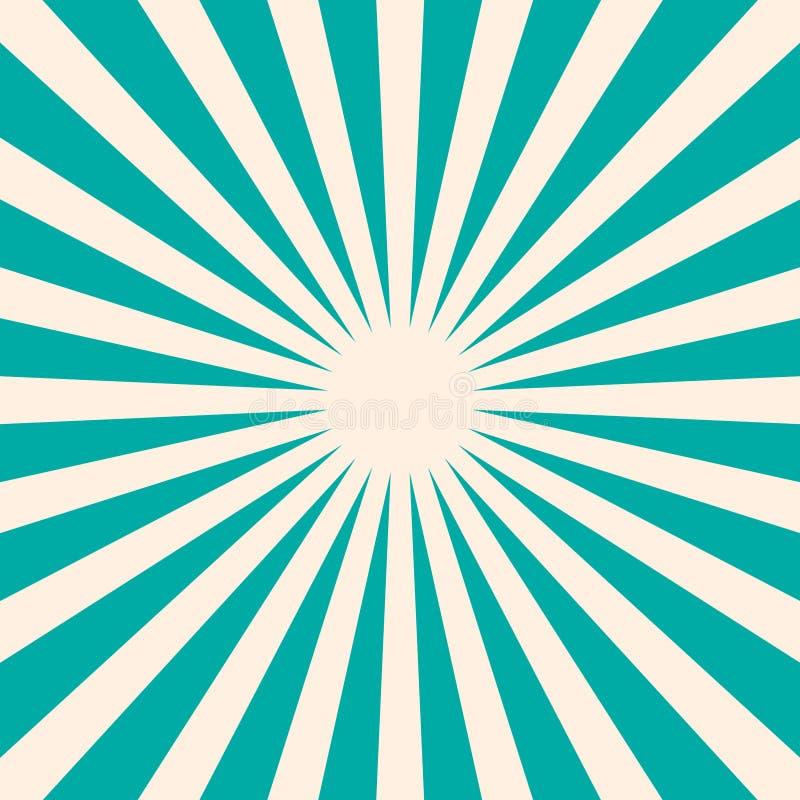 Retro Blauwe Achtergrond met Stervorm stock illustratie