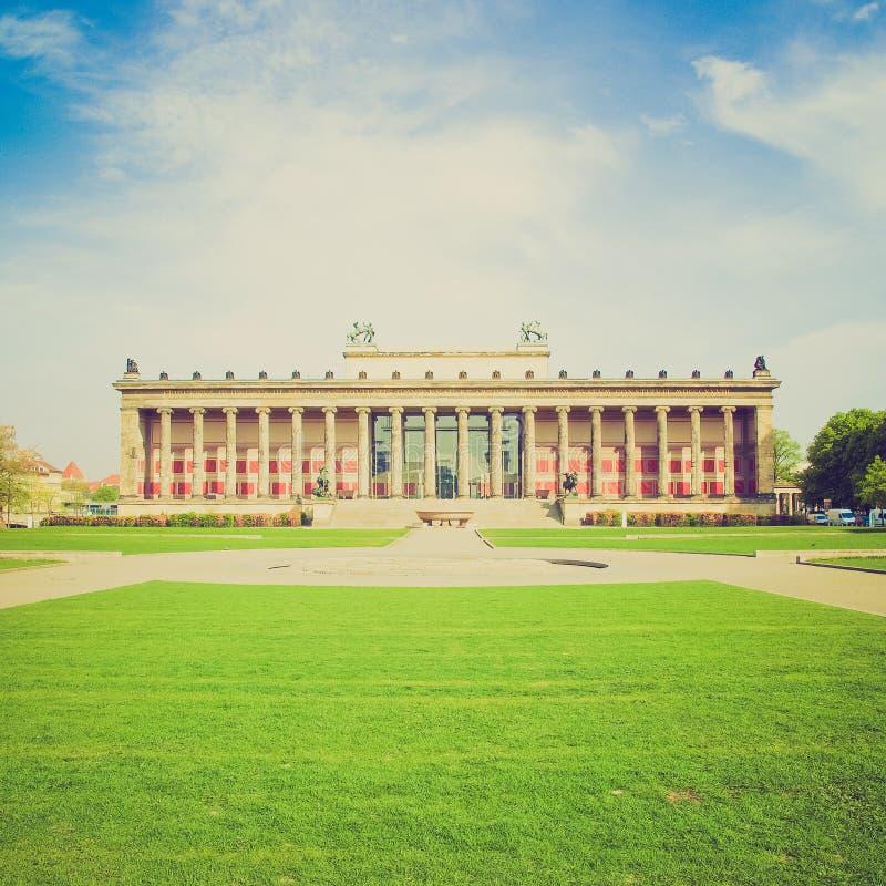 Retro- Blick Altesmuseum, Berlin stockfoto