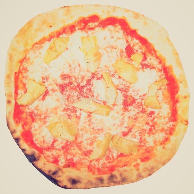Retro- Blick Artischocken-Pizza lizenzfreies stockbild