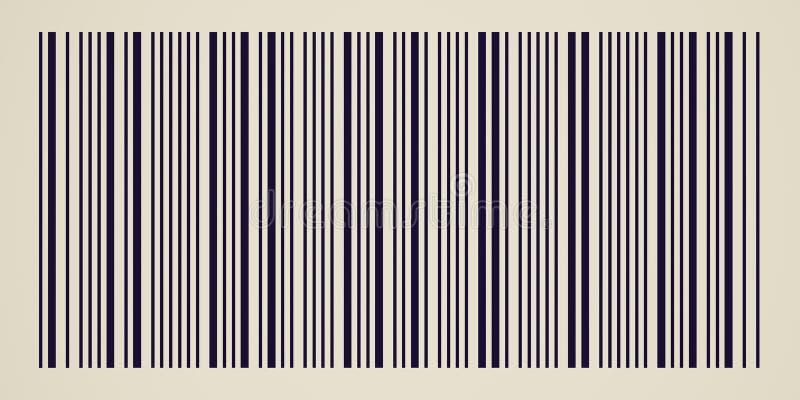 Retro- Blick Barcode stock abbildung